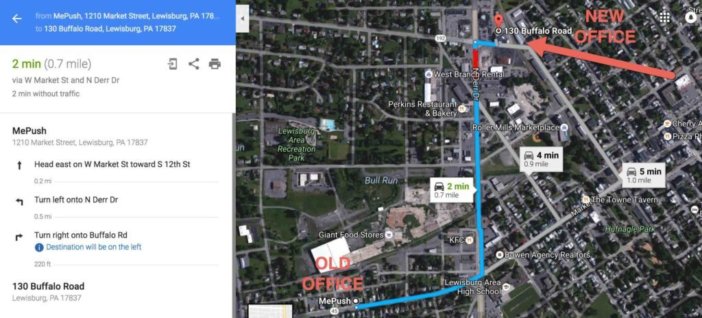 Directions to 130 Buffalo Road, Suite 103
